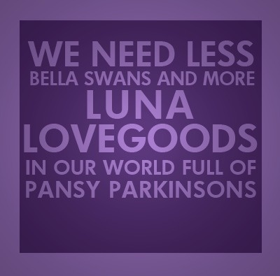 Indeed. Although, of course, I feel the need to edit this thing: We need FEWER Bellas and more Lunas :-)