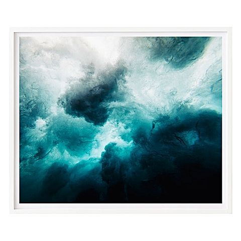 Enthralling pattern and colour combine in the abstract artistry of the Ocean Storm Framed Print from Home & Abode.