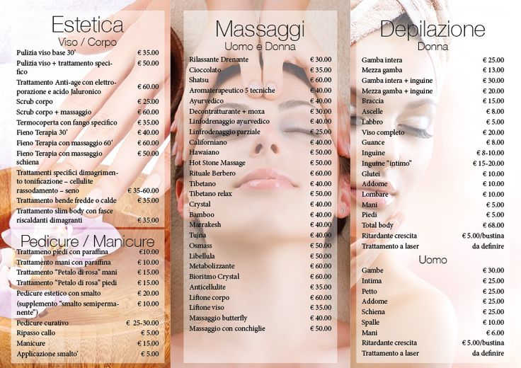 Depliant da noi realizzato per un centro estetico (interno) #grafica #graphic #depliant #3ante #trifoldbrochure #design #centroestetico #wellness #spa #Novara #Piemonte #Italy