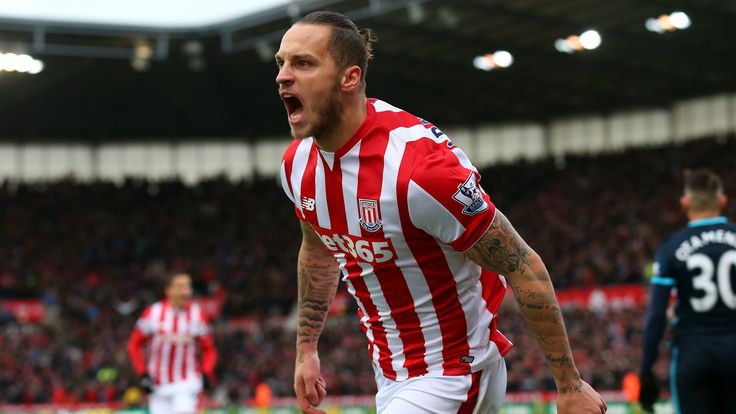 @Stoke A first-half double from Marko Arnautović led Stoke City to a well-deserved 2x0 victory over an abject Manchester City at the Britannia Stadium on Saturday. The striker netted two in the first half but it could have been more as Mark Hughes' men took the three points against Manuel Pellegrini's ineffective side #9ine