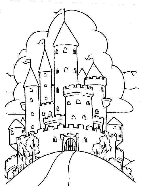 Nice Dragon Around Castle Coloring Page Castle Coloring Page Coloring Pages Mermaid Coloring Pages