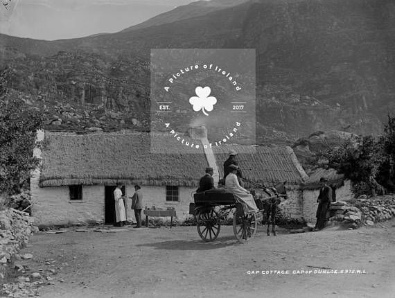 Gap Cottage Gap of Dunloe Kerry Ireland c 1890 ANTIQUE Photo