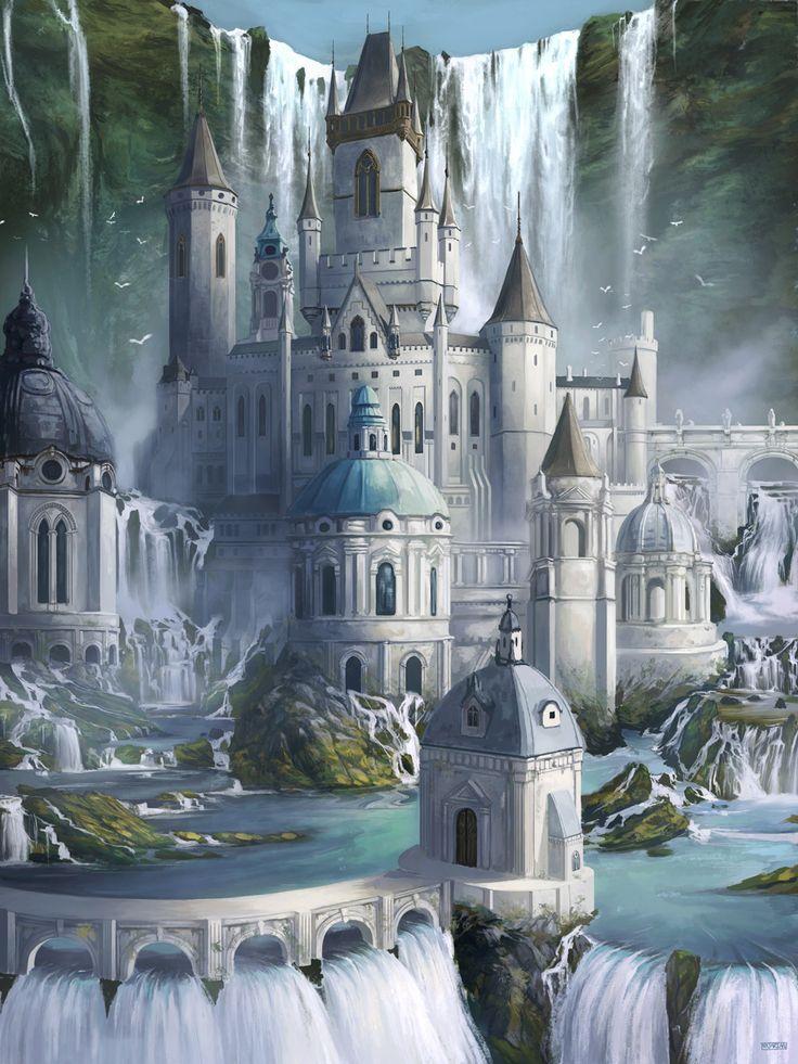 Keep of the Thousand Falls, Stephen Najarian on ArtStation at https://www.artstation.com/artwork/rKz6J