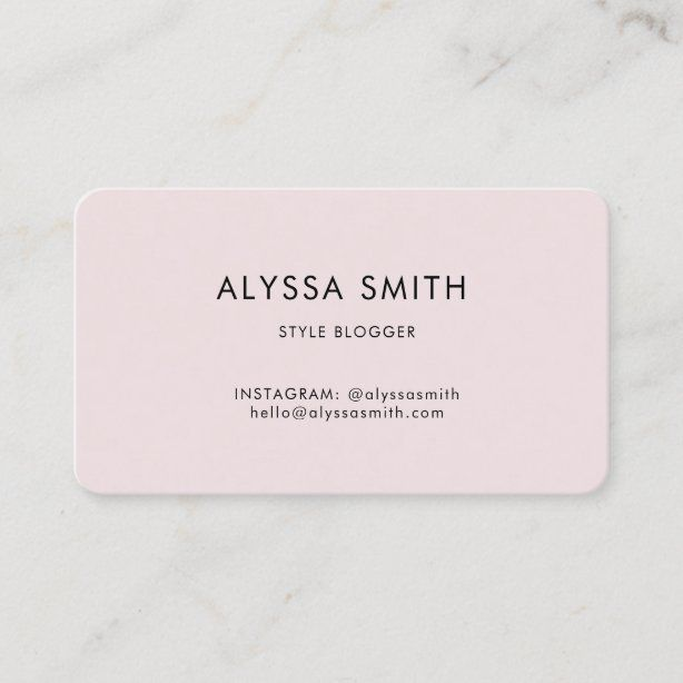 Fashion And Style Blogging Business Social Media Business Card Zazzle Com Media Business Cards Fashion Business Cards Social Media Business Cards