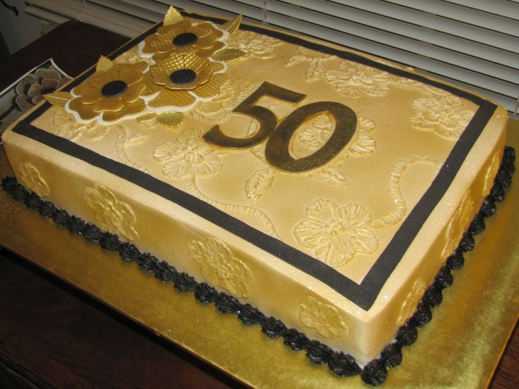 Cakes By Paula 50th Anniversary Sheet Cake Birthday