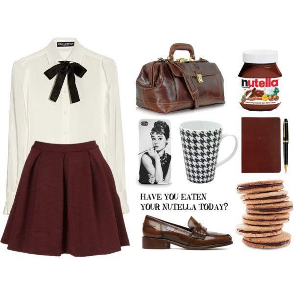"""Have you eaten your Nutella today?"" by hanye on Polyvore (love the vintage outfit)"