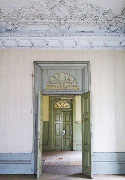 Matrioska. classical interior. pastel tones