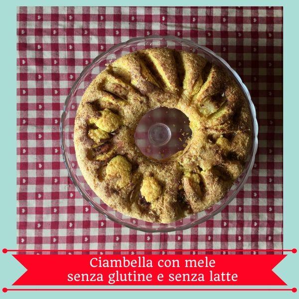 Ciambella con mele senza glutine e senza latte #glutenfree #dairyfree con Moulinex Cuisine Companion