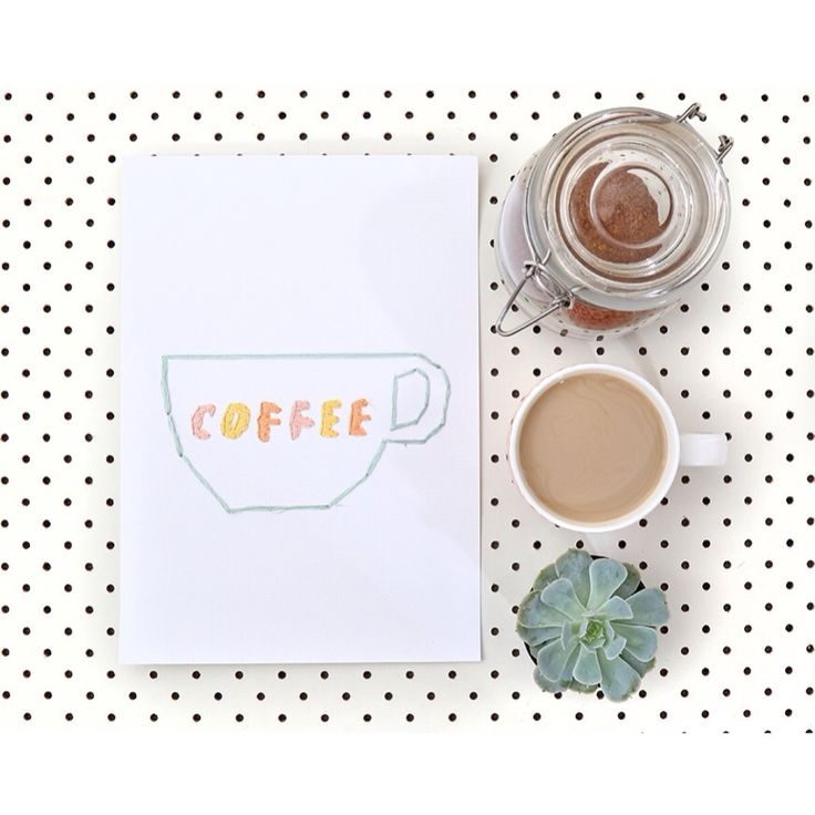 C O F F E E | Happy Sunday☕️ Hand stitched by talented @deniparadise | Shop online www.daisychainstore.com.au