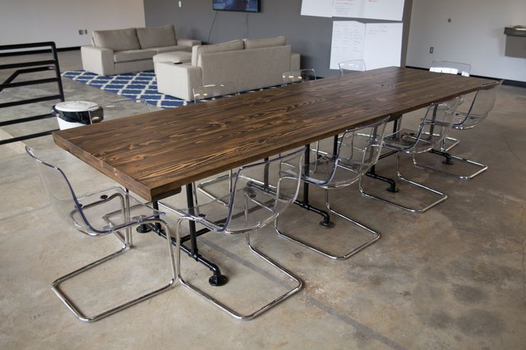 Industrial Style Conference Table 2 6 Industrial