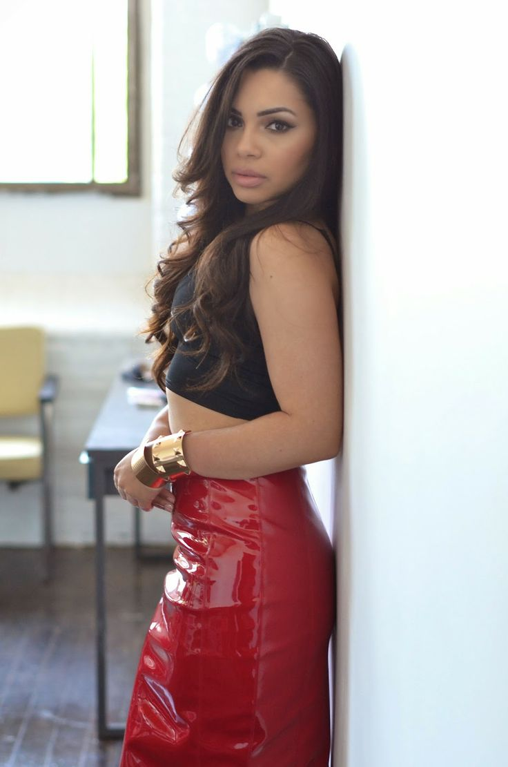 Styling Patent Leather Skirt. Red patent leather: http://www ...