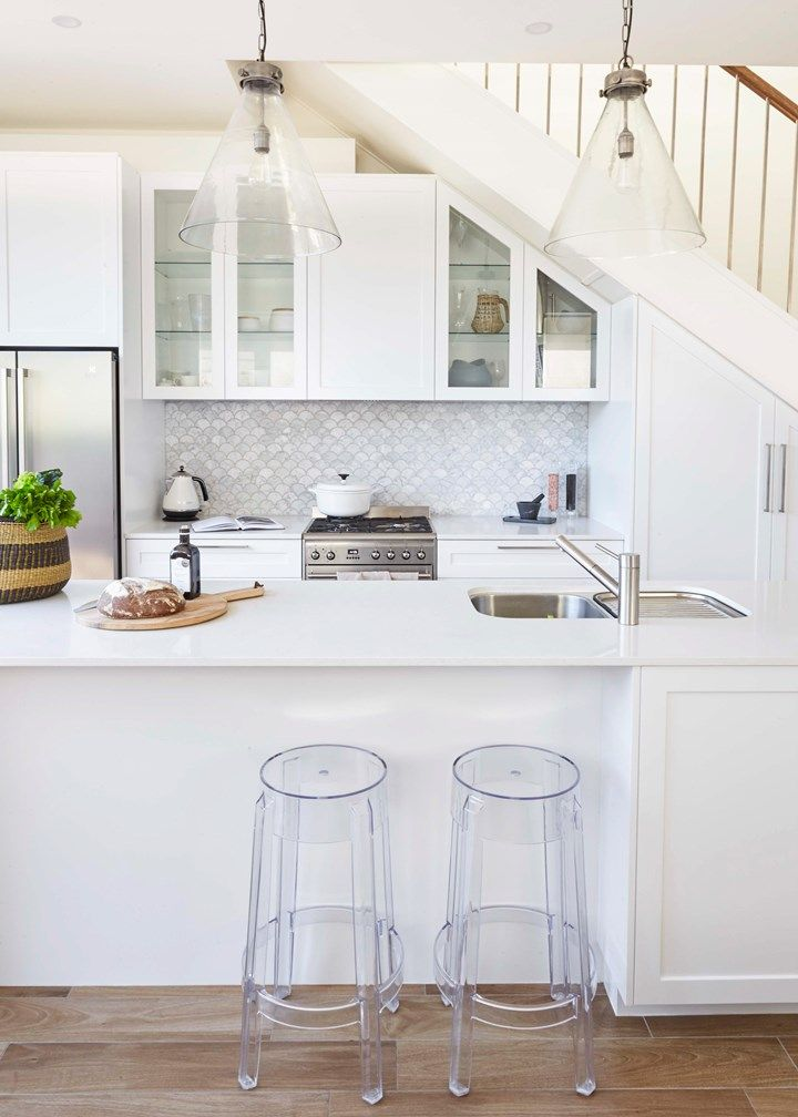 Petite Perfection: A White Kitchen Beautifully Built In Part 88