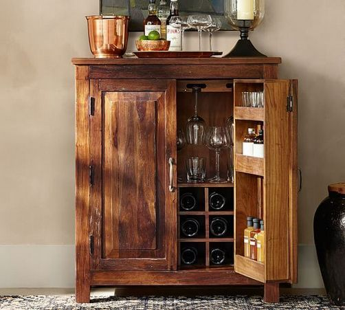 40 Key Pieces Of Rustic Wine Cabinet Ideas Bar