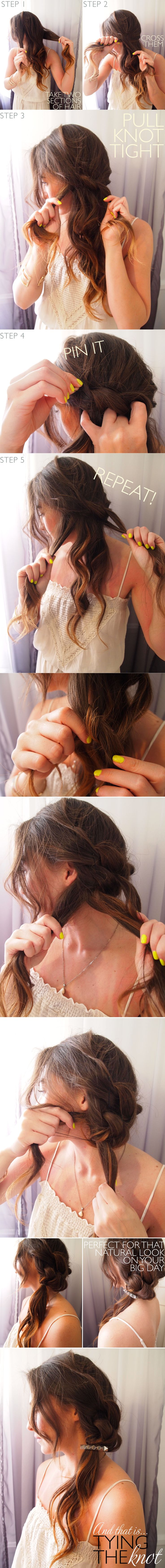: Knot Hairstyle, Hair Tutorials, Knot Braid, Hair Styles, Hair Do, Hair Knot, Fun Braids, Knotted Hairstyle, New Hairstyles