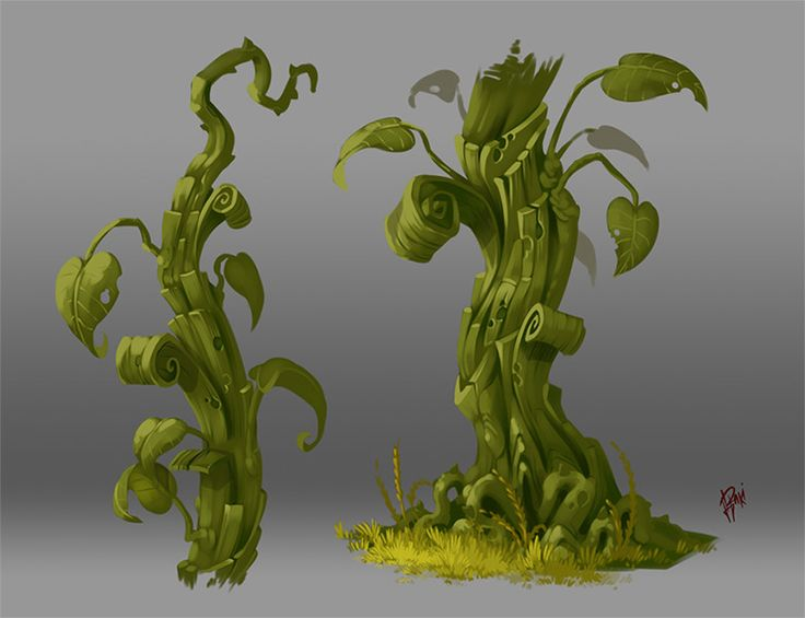 Concept Art. Plant 005, Raki Martinez on ArtStation at https://www.artstation.com/artwork/QWZ6x