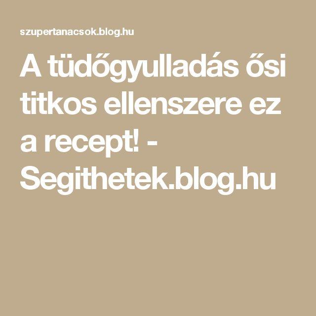 A tüdőgyulladás ősi titkos ellenszere ez a recept! - Segithetek.blog.hu