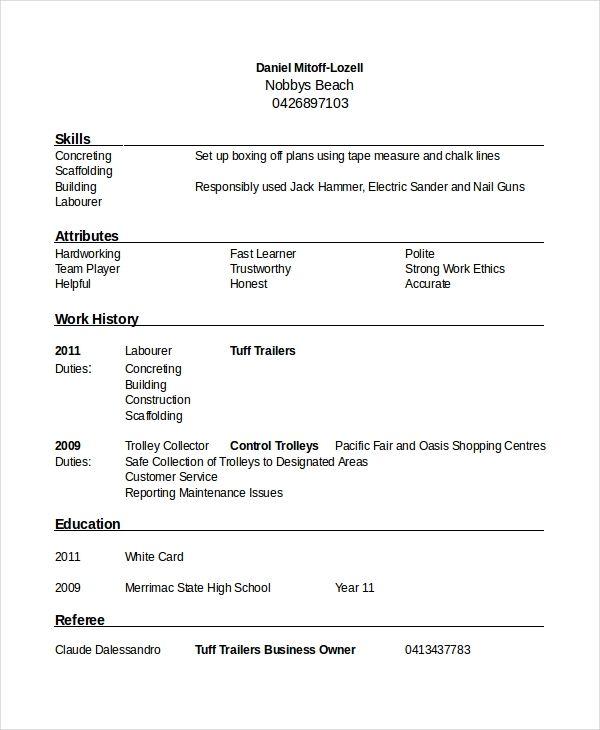 7 Referee Resume Templates Pdf Doc Free Premium Templates Overused Words Resume Templates Resume