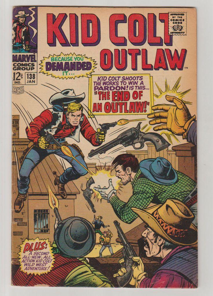 Kid Colt Outlaw; Vol 1, 138, Silver Age Comic Book. VG/FN. January 1968. Marvel Comics #kidcoltoutlaw #silveragecomics #comicsforsale