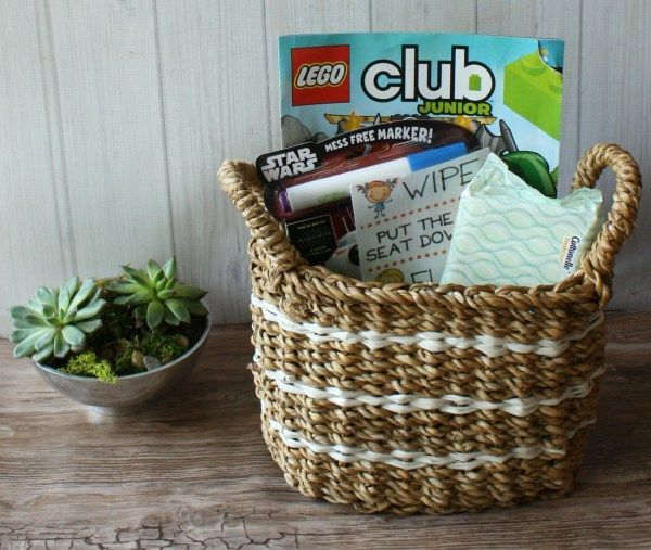 Potty-training your little ones can be hard! A great way to make it easy is this fun potty training bathroom basket to make using the bathroom a little more fun and a little more clean.