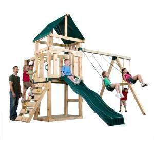 Timber-Bilt Playsets Hawk's Nest Play Set-PB 9210 at The Home Depot, change far right to tire swing