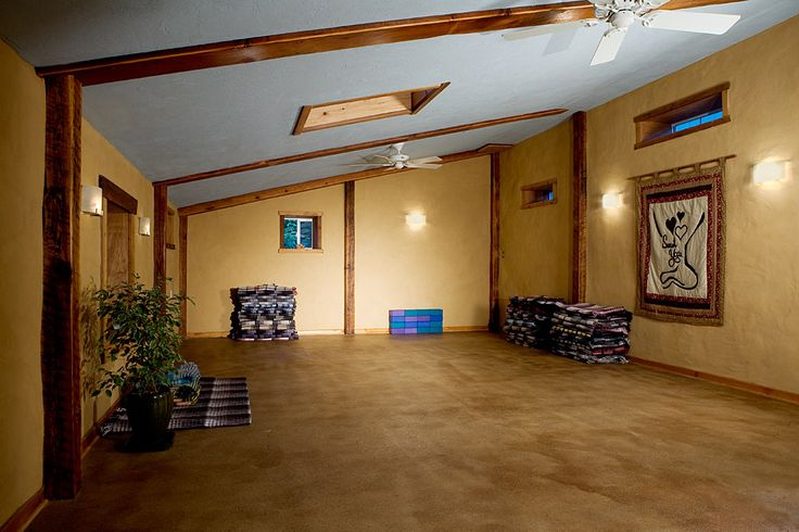 I (literally) dream about rooms with skylights, yellow walls, a blue ceiling, and wood floors.