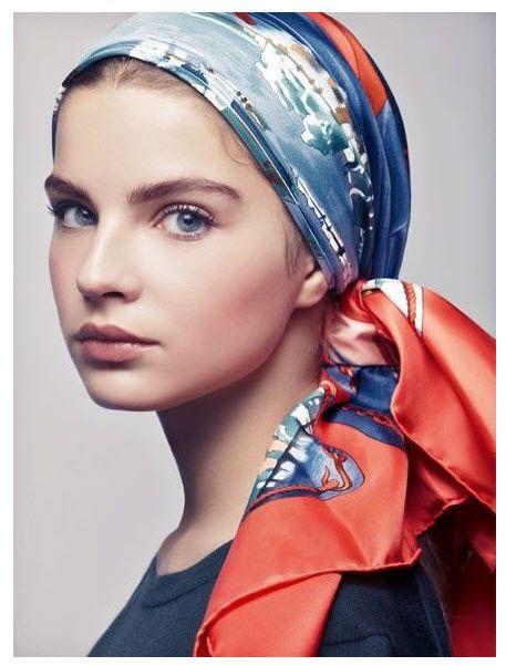 Hermès head scarf.