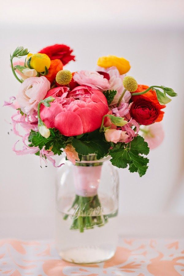 colorful flower arrangement by Sweet Sunday Events