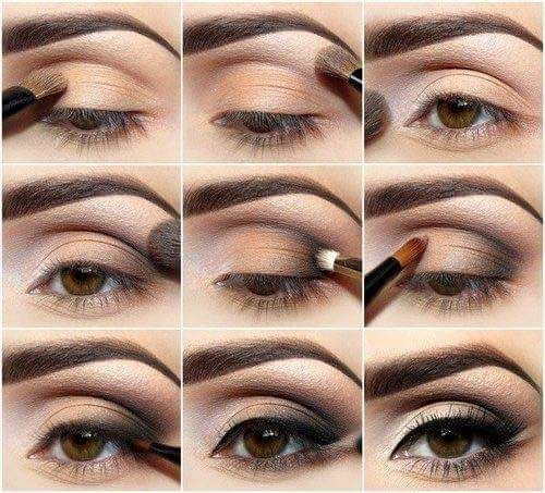 Saffron Strokes On Upper Lid Area With Light Midnight Black Shade In The Corners