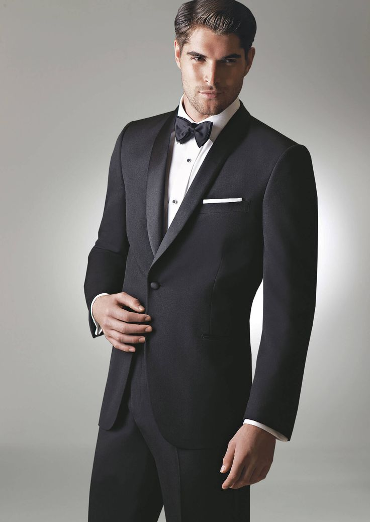 Black Chandler One Button Shawl by Ike-Behar - Tuxedos