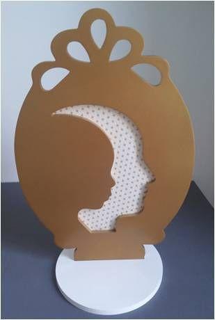 Lampe papier doré Adeline Klam