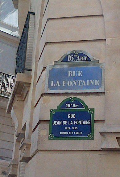 Rue (Jean)-de-la-Fontaine  (Paris 16ème).
