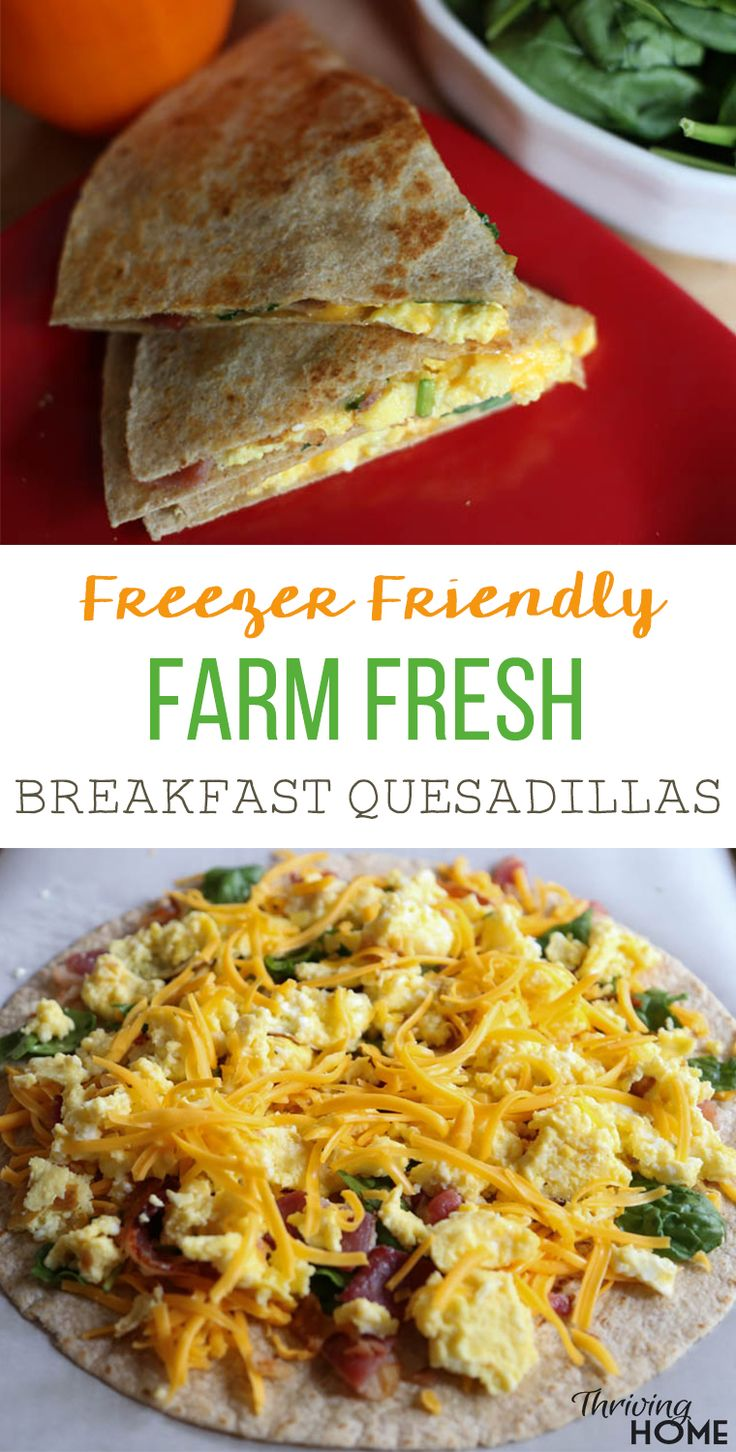 In light of the kids' quesadilla obsession and my continual hunt for easy, healthy, freezable breakfast ideas, a breakfast quesadilla recipe was born.