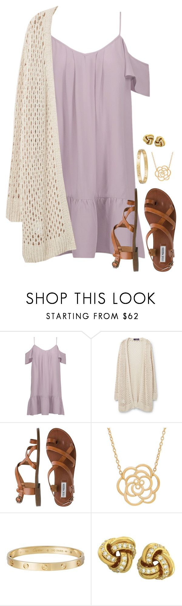 """""""Untitled #648"""" by dauntless-darling on Polyvore featuring Joie, Violeta by Mango, Steve Madden, Lord & Taylor, Cartier and Tiffany & Co."""