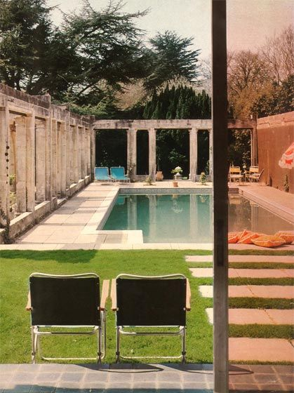 Capel Manor House, The Manser Practice #house #pool #home #residential #private #reflection #retractable #roof #retractableroof #rural #domestic #views #trees #outside #historic
