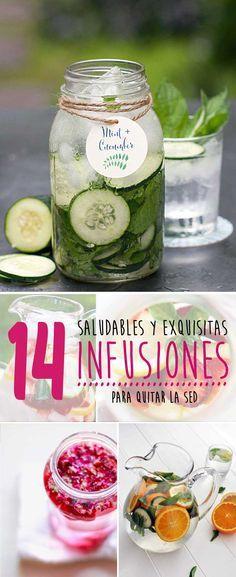 14 saludables y exquisitas infusiones para quitar la sed