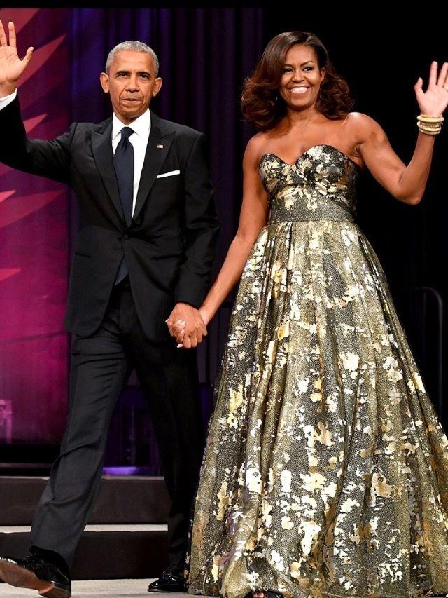 #President Of The United States #BarackObama #FirstLady Of The United States #MichelleObama Congressional Black Caucus Foundation Award Dinner September 17, 2016 Designer Naeem Khan