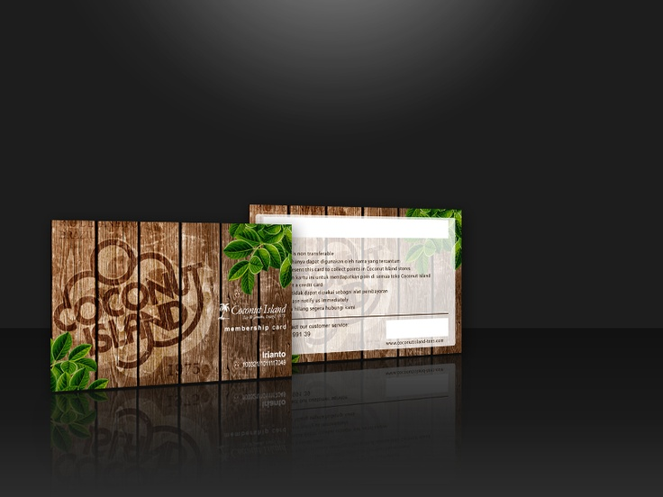 One of Coconut Island member card design