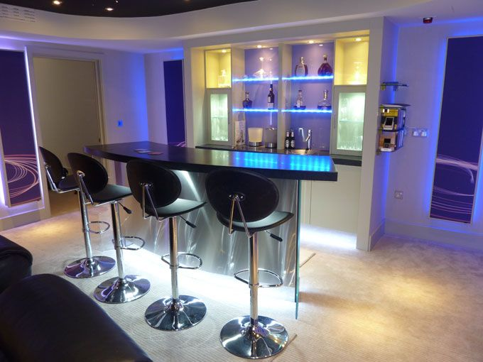 Bespoke bar and LED lighting effects
