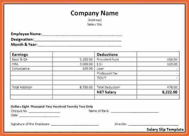 7 Free Salary Payslip Template Download Simple Salary Slip E Salary Slip Invoice Template Word Invoice Template Statement Template