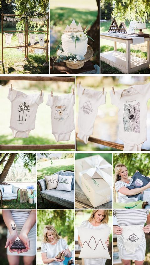 Baby Shower Themes Modern ~ Little adventurer woodland themed baby shower kids