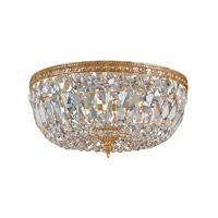 Signature 3 Light 12 inch Olde Brass Flush Mount Ceiling Light in Olde Brass (OB), Swarovski Spectra (SAQ)