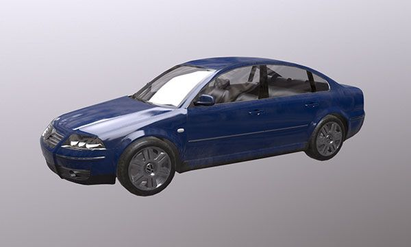 FREE low poly model Volkswagen Passat B5‏
