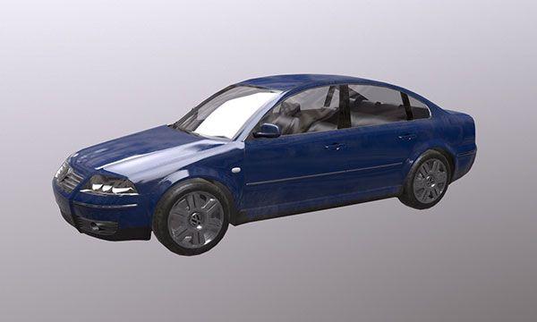 FREE low poly model Volkswagen Passat B5