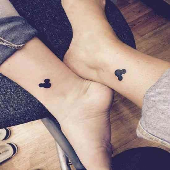 Mickey Mouse Disney best friends tattoos #smalltattoosforbestfriends