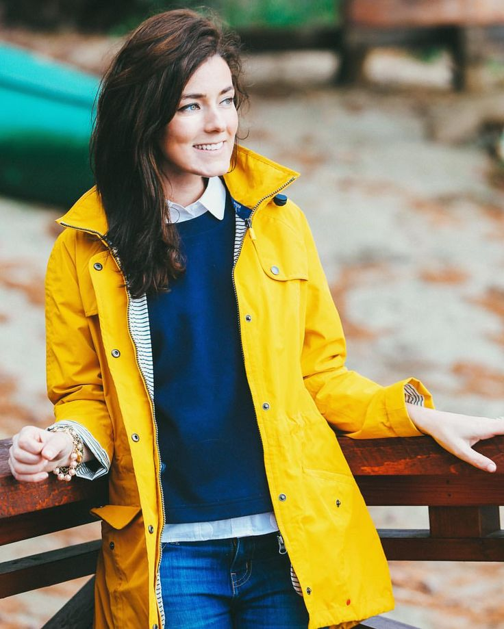 Preppy yellow rain coat - Sarah Vickers