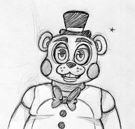 """inkyfrog: """" Someone asked me how I'd do bot designs NOT based on the dating sim, so I drew a Toy Freddy. """""""