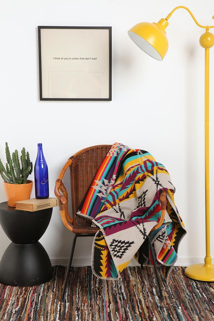 pendleton rainbow apache blanket $250 if we ever kick the dogs out of the bed i'm getting this! (i also want that awesome light!)