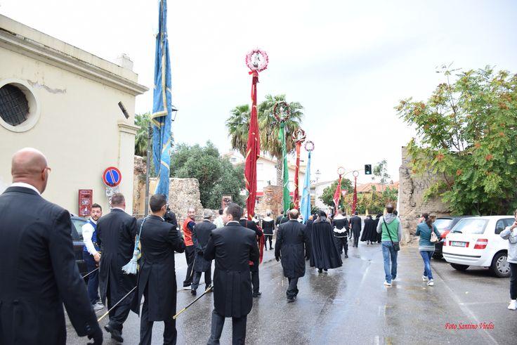 la sfilata dei Gremi della Sardegna nel centro storico della città #Oristano