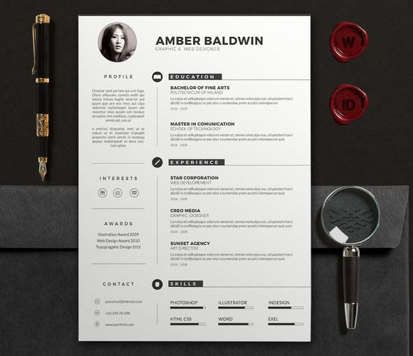 24 best Resume templates Tips images on Pinterest Resume - designer resume template