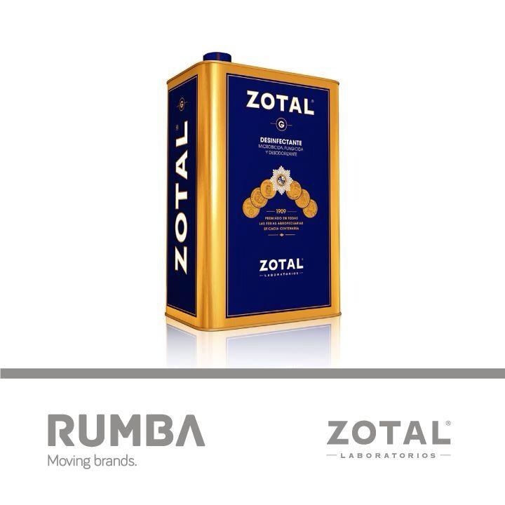 Packaging para Zotal diseñado por la Agencia Rumba